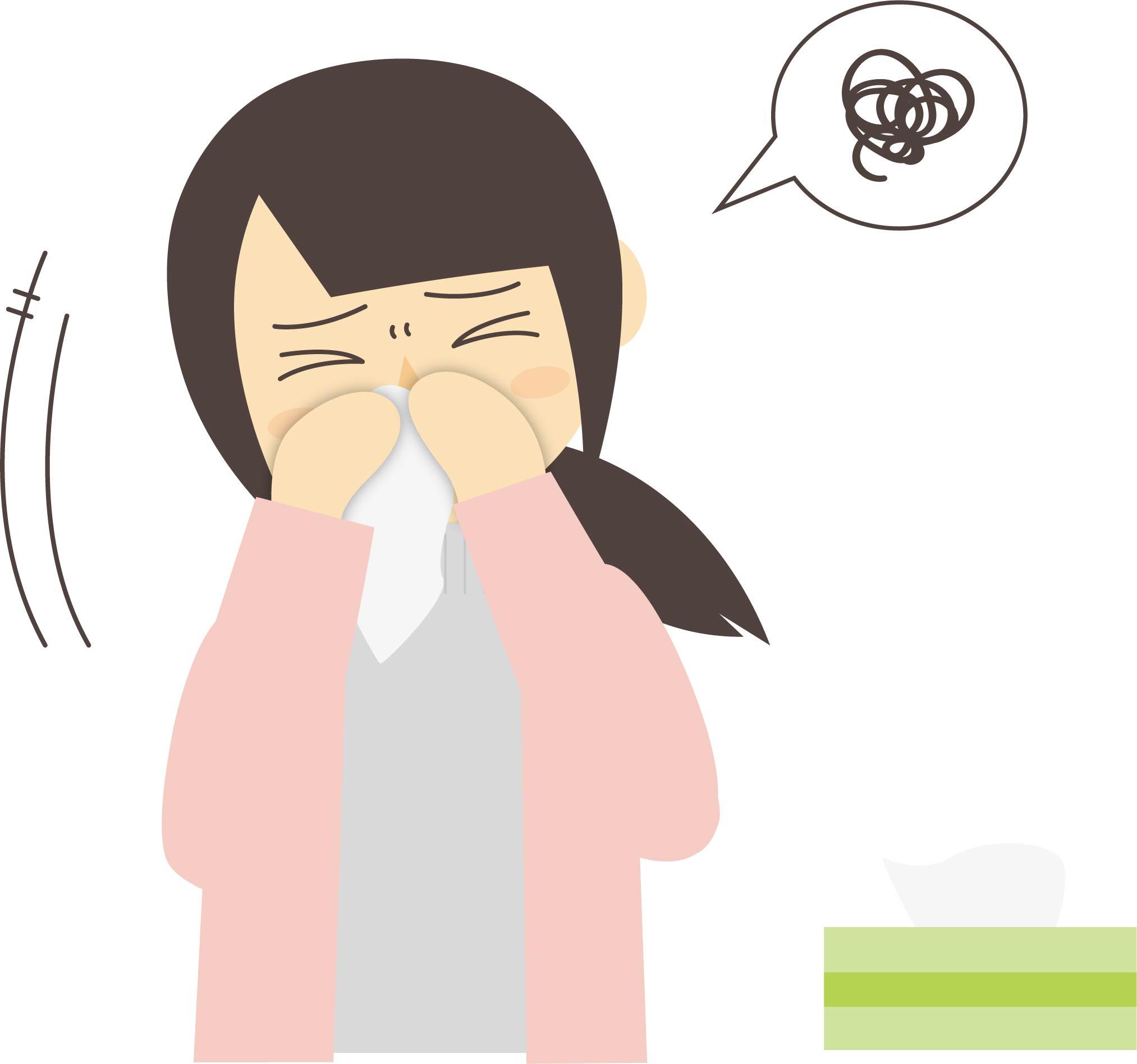 副鼻腔炎(蓄膿症)のイメージ