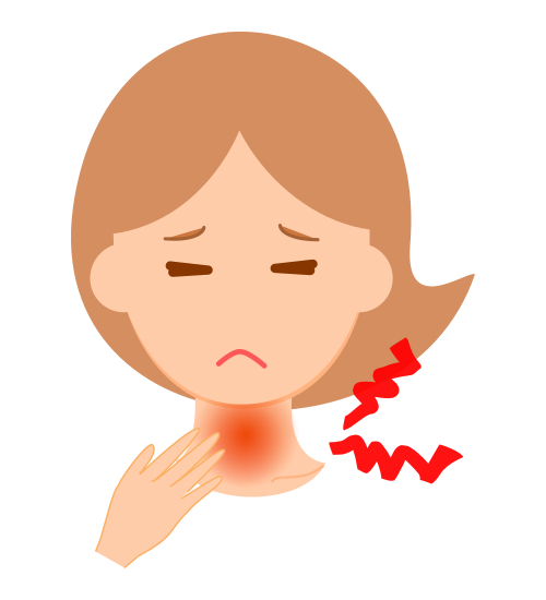 扁桃炎のイメージ